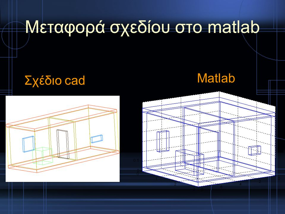 Μεταφορά σχεδίου στο matlab