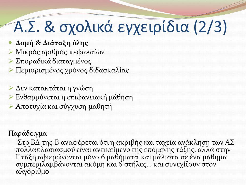 Α.Σ. & σχολικά εγχειρίδια (2/3)