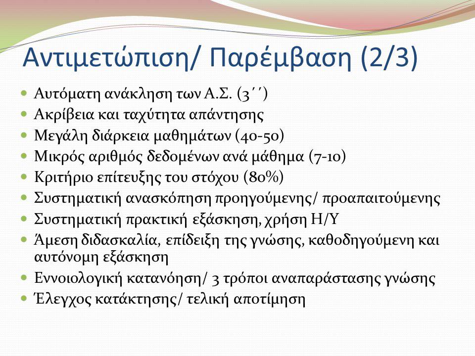 Αντιμετώπιση/ Παρέμβαση (2/3)