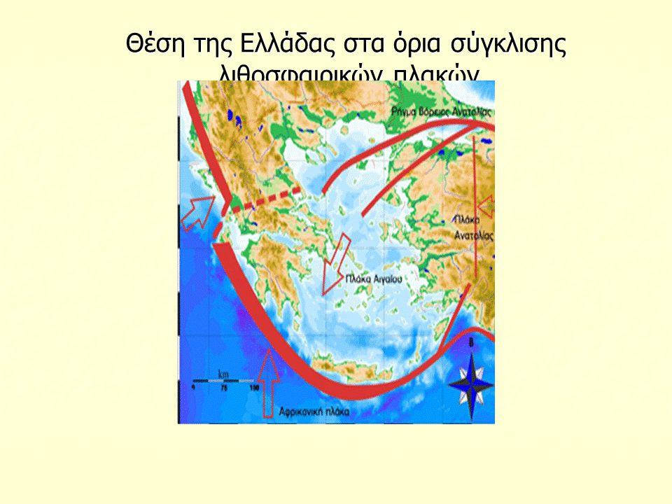 Θέση της Ελλάδας στα όρια σύγκλισης λιθοσφαιρικών πλακών