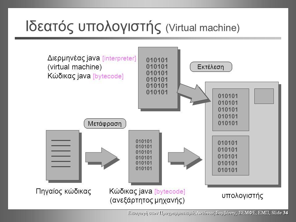Ιδεατός υπολογιστής (Virtual machine)