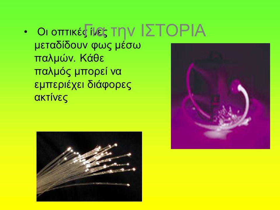 Για την ΙΣΤΟΡΙΑ Οι οπτικές ίνες μεταδίδουν φως μέσω παλμών.