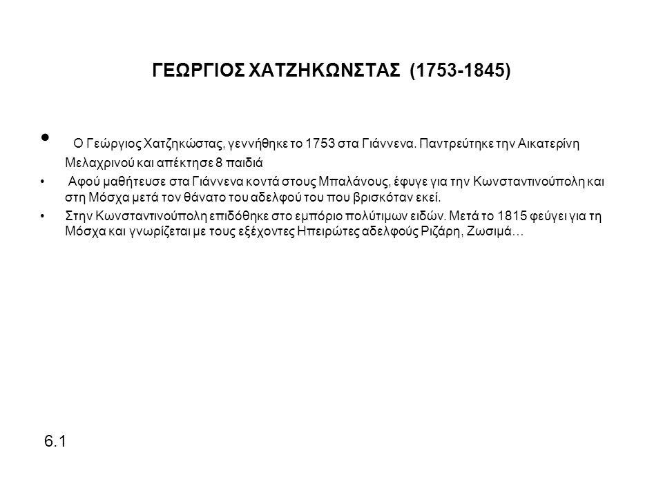 ΓΕΩΡΓΙΟΣ ΧΑΤΖΗΚΩΝΣΤΑΣ (1753-1845)