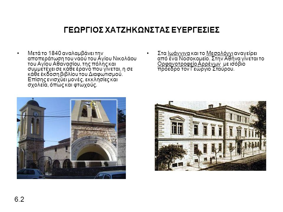 ΓΕΩΡΓΙΟΣ ΧΑΤΖΗΚΩΝΣΤΑΣ ΕΥΕΡΓΕΣΙΕΣ