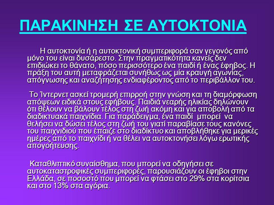 ΠΑΡΑΚΙΝΗΣΗ ΣΕ ΑΥΤΟΚΤΟΝΙΑ
