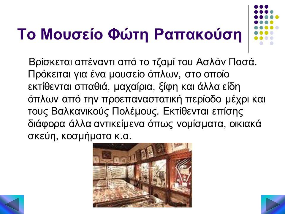 Το Μουσείο Φώτη Ραπακούση