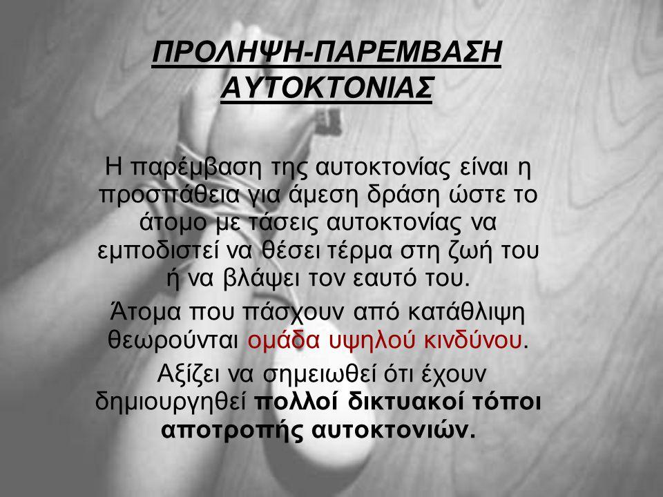ΠΡΟΛΗΨΗ-ΠΑΡΕΜΒΑΣΗ ΑΥΤΟΚΤΟΝΙΑΣ