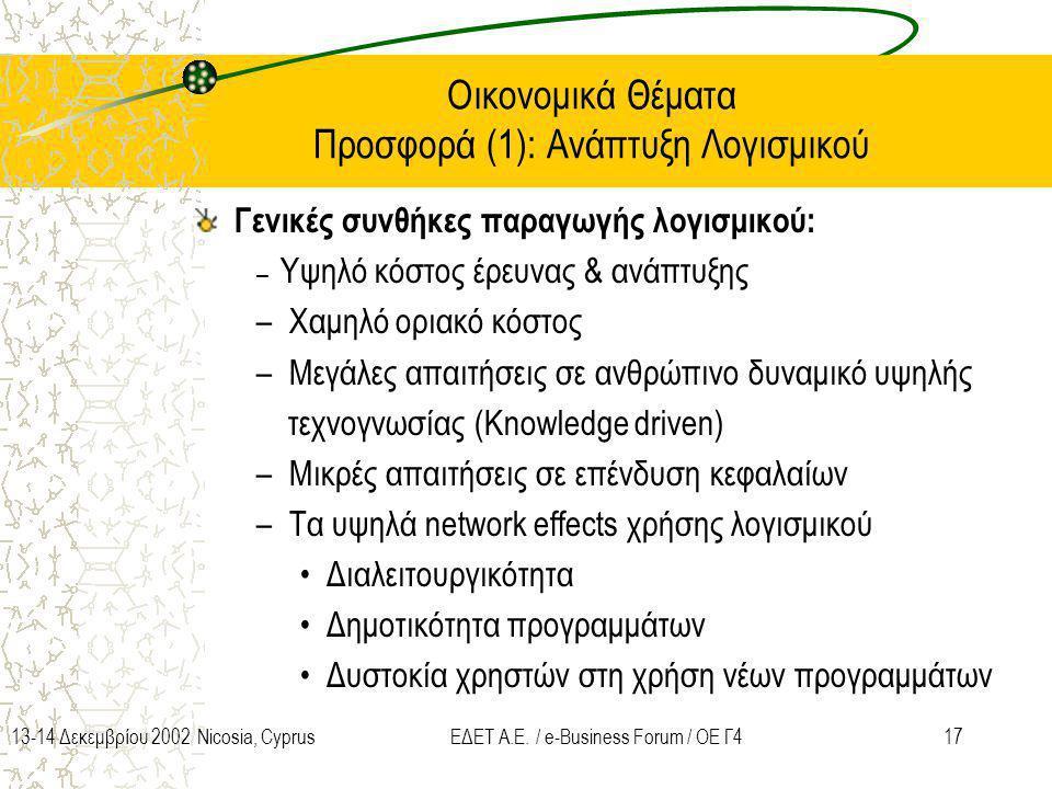 Οικονομικά Θέματα Προσφορά (1): Ανάπτυξη Λογισμικού