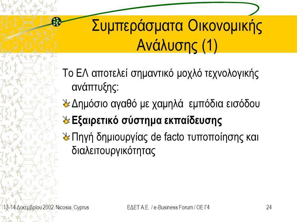 Συμπεράσματα Οικονομικής Ανάλυσης (1)
