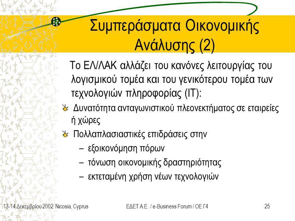 Συμπεράσματα Οικονομικής Ανάλυσης (2)
