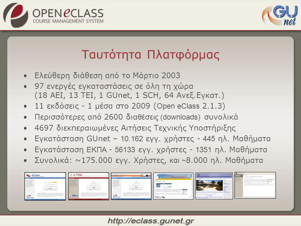Ταυτότητα Πλατφόρμας Ελεύθερη διάθεση από το Μάρτιο 2003