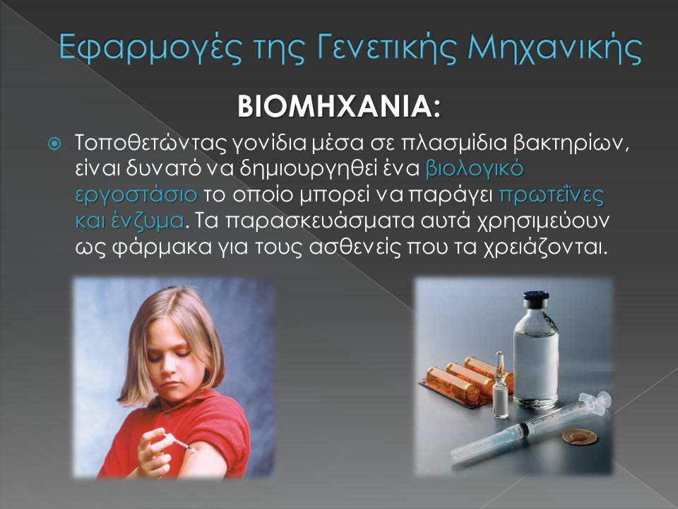 Εφαρμογές της Γενετικής Μηχανικής