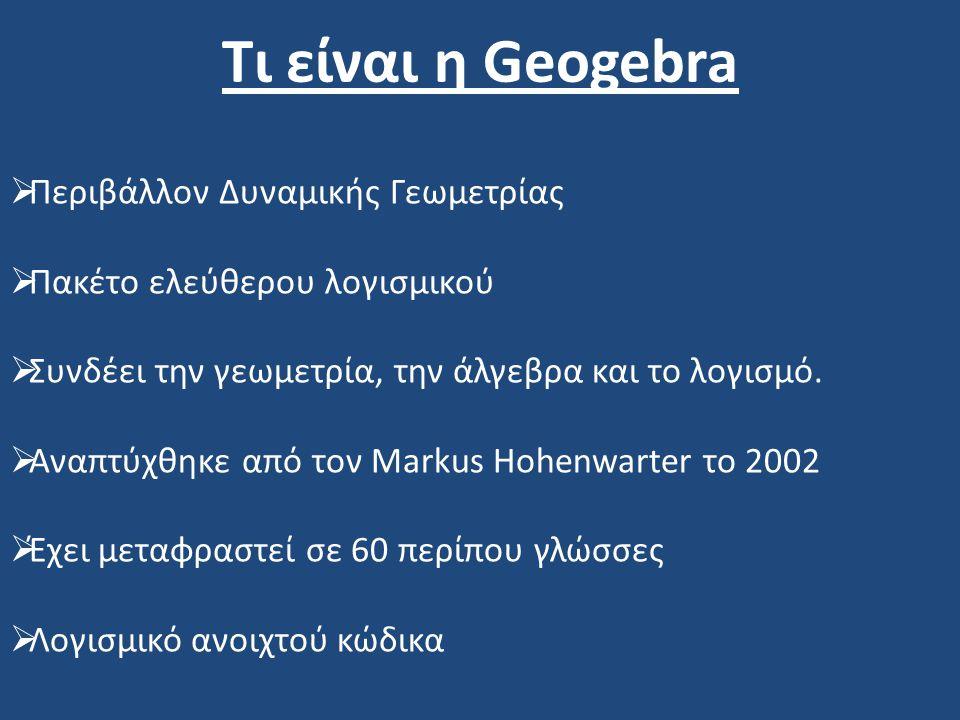 Τι είναι η Geogebra Περιβάλλον Δυναμικής Γεωμετρίας
