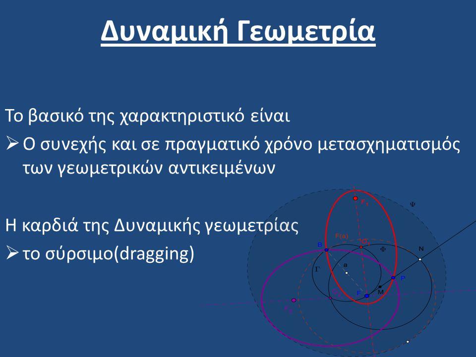Δυναμική Γεωμετρία Το βασικό της χαρακτηριστικό είναι