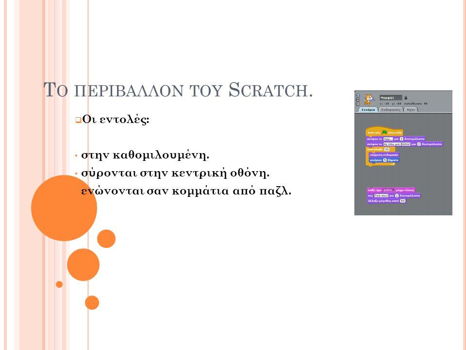 Το περιβαλλον του Scratch.