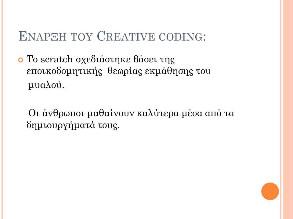Εναρξη του Creative coding: