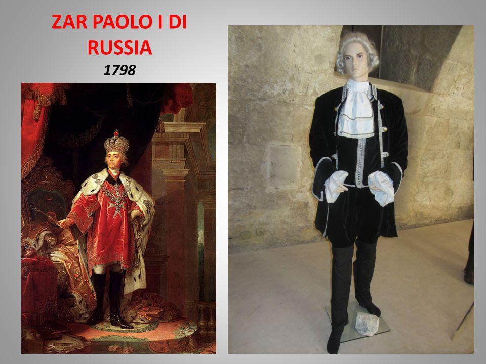ZAR PAOLO I DI RUSSIA 1798