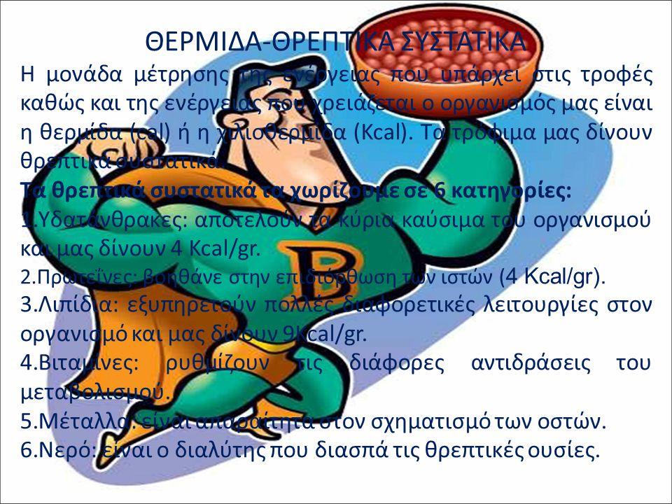 ΘΕΡΜΙΔΑ-ΘΡΕΠΤΙΚΑ ΣΥΣΤΑΤΙΚΑ