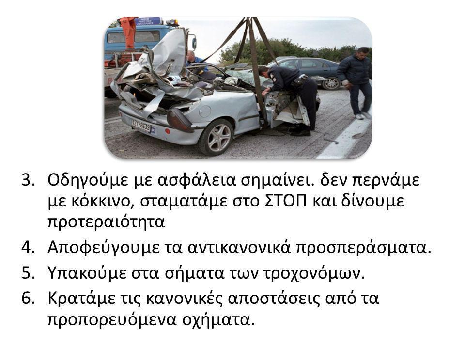 Οδηγούμε με ασφάλεια σημαίνει