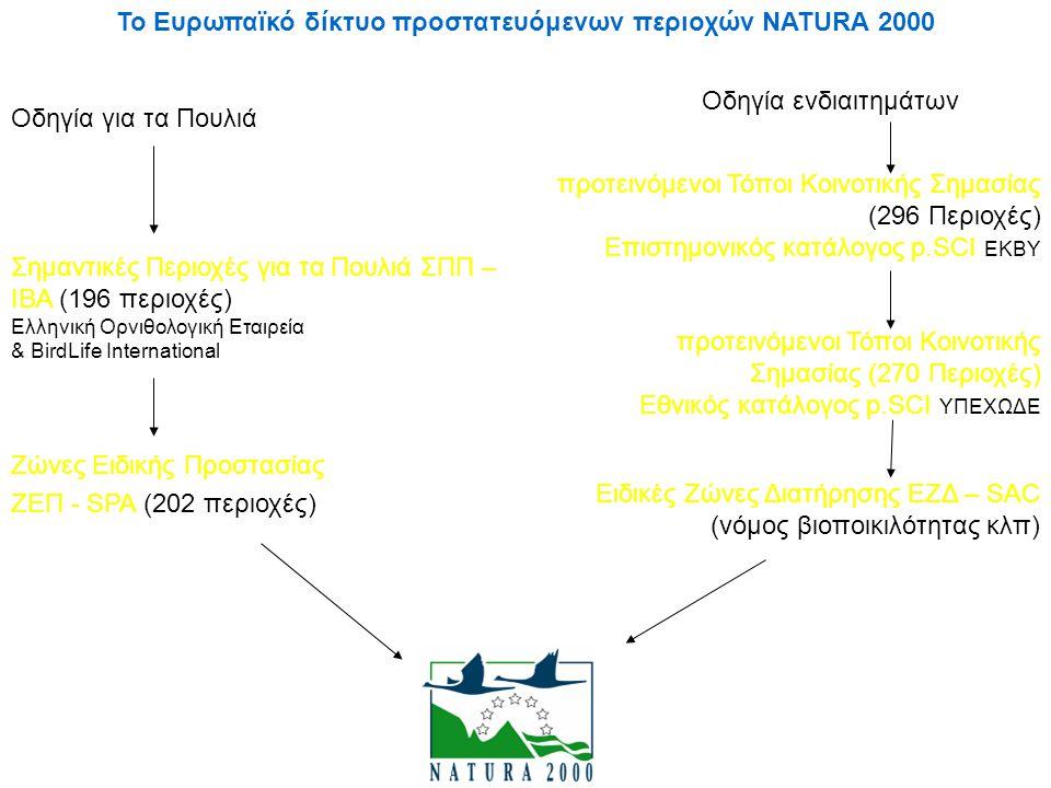 Το Ευρωπαϊκό δίκτυο προστατευόμενων περιοχών NATURA 2000