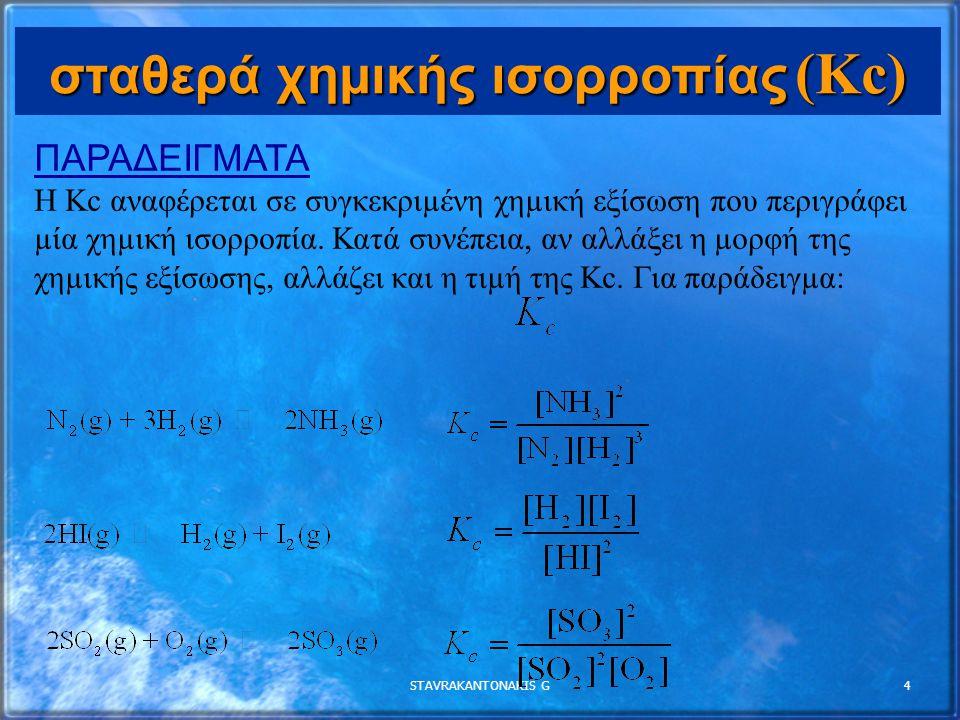 σταθερά χημικής ισορροπίας (Kc)