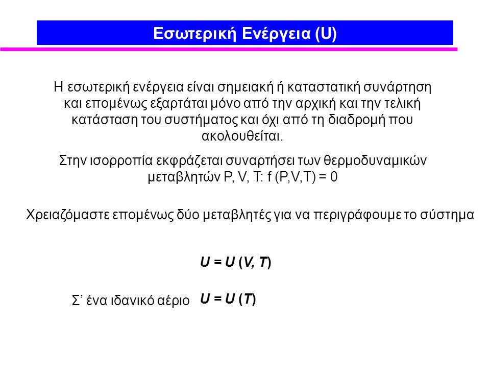 Εσωτερική Ενέργεια (U)