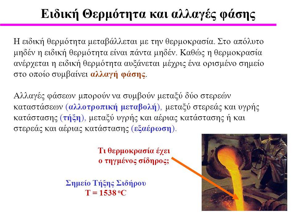 Eιδική Θερμότητα και αλλαγές φάσης