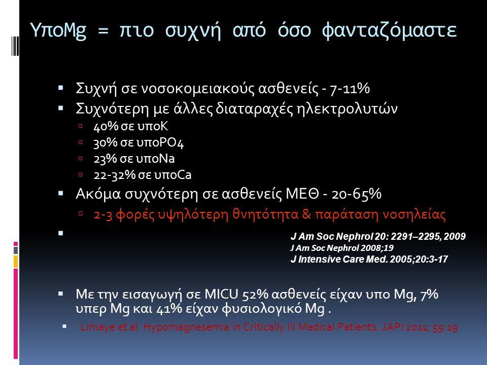 ΥποMg = πιο συχνή από όσο φανταζόμαστε