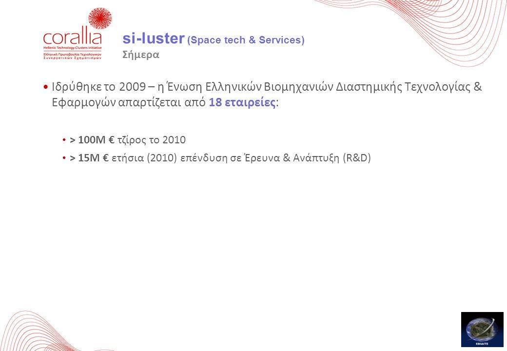si-luster (Space tech & Services) Σήμερα