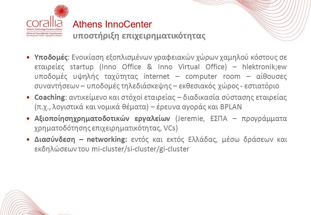 Athens InnoCenter υποστήριξη επιχειρηματικότητας