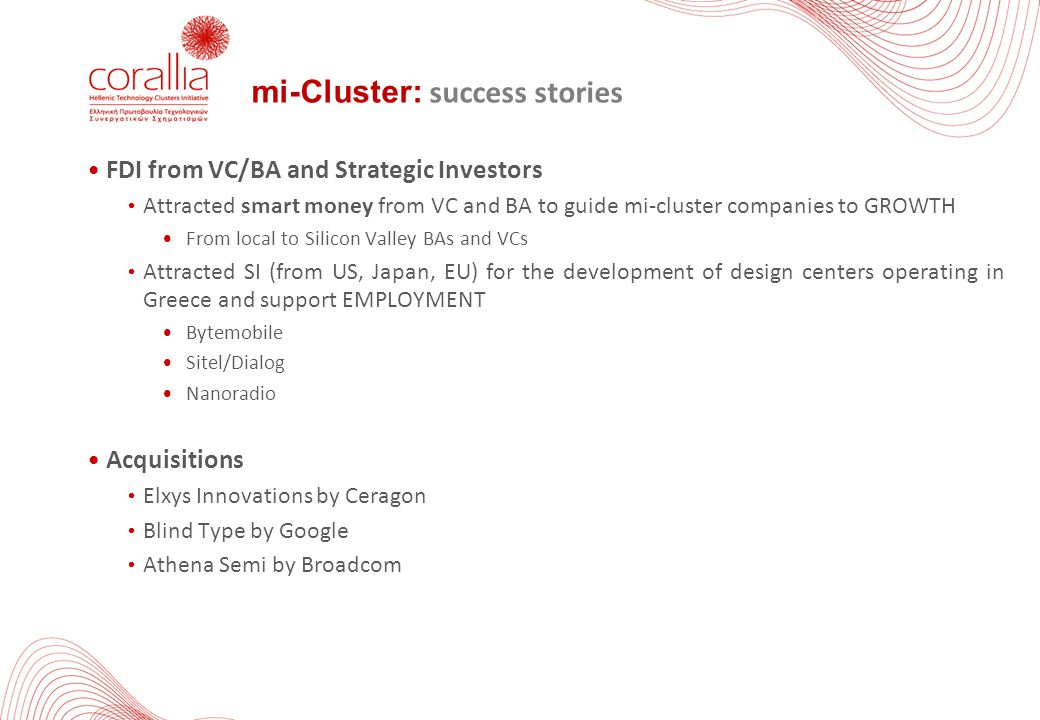 mi-Cluster: success stories