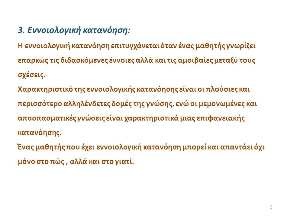 3. Εννοιολογική κατανόηση:
