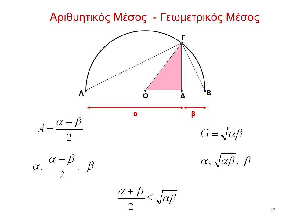 Αριθμητικός Μέσος - Γεωμετρικός Μέσος