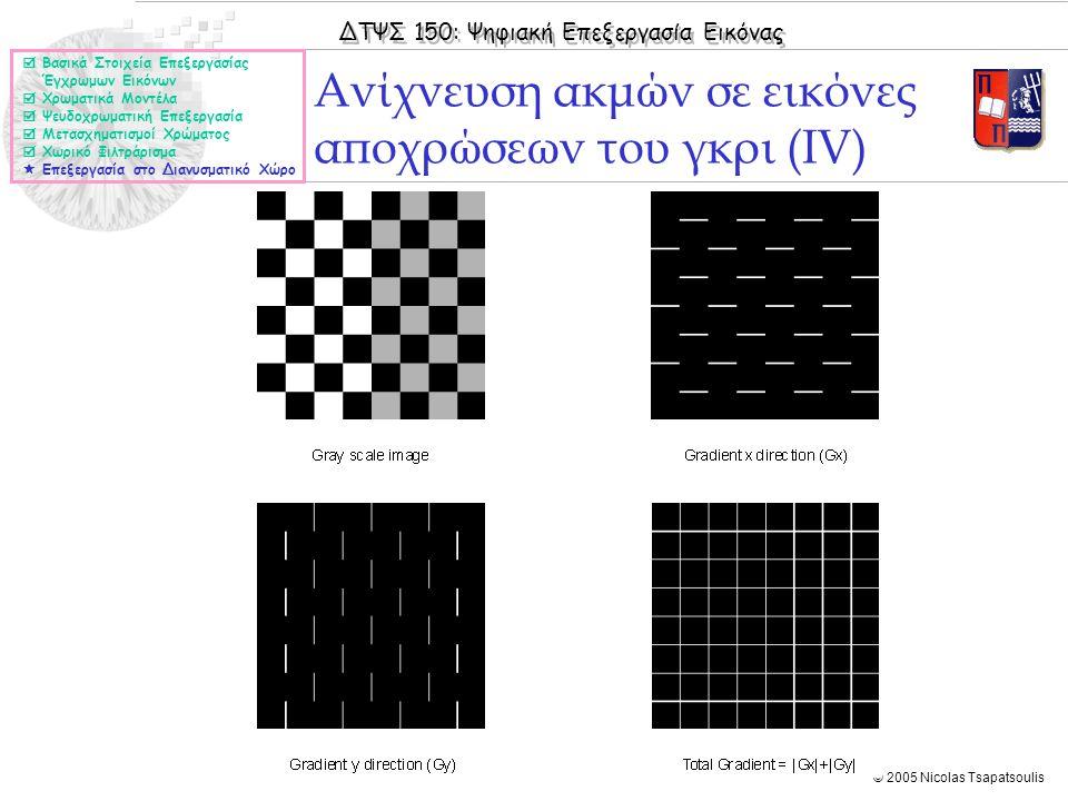 Ανίχνευση ακμών σε εικόνες αποχρώσεων του γκρι (ΙV)