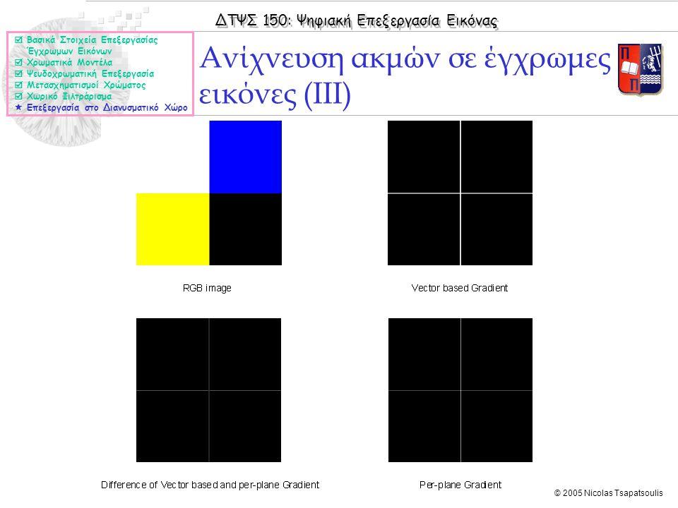 Ανίχνευση ακμών σε έγχρωμες εικόνες (ΙΙΙ)