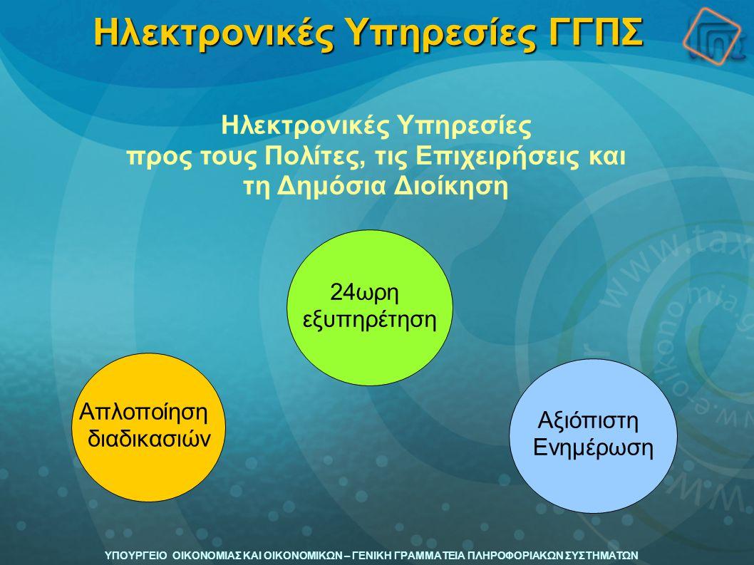 Ηλεκτρονικές Υπηρεσίες ΓΓΠΣ