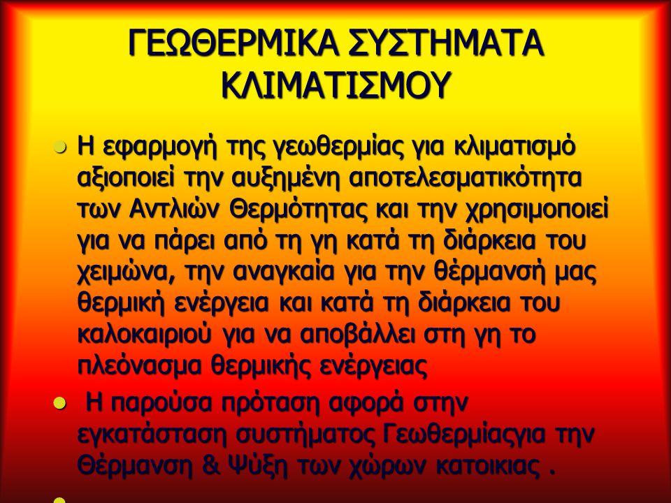 ΓΕΩΘΕΡΜΙΚΑ ΣΥΣΤΗΜΑΤΑ ΚΛΙΜΑΤΙΣΜΟΥ