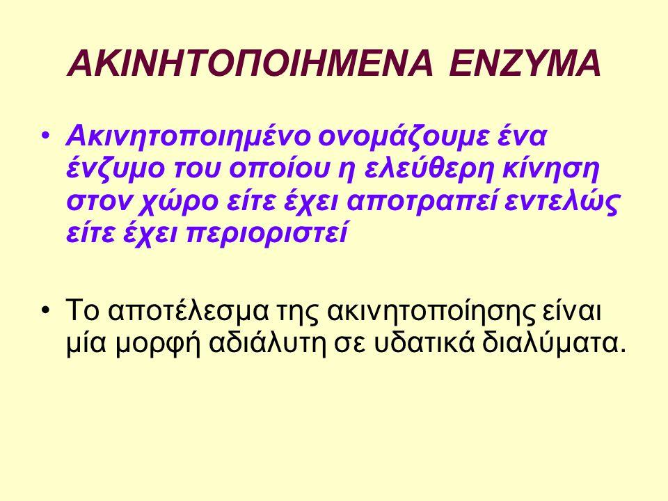 ΑΚΙΝΗΤΟΠΟΙΗΜΕΝΑ ΕΝΖΥΜΑ