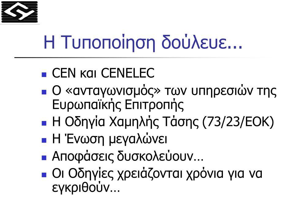 Η Τυποποίηση δούλευε... CEN και CENELEC