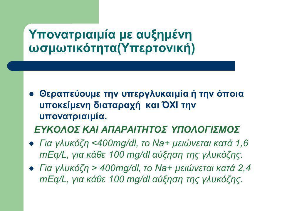 Υπονατριαιμία με αυξημένη ωσμωτικότητα(Υπερτονική)