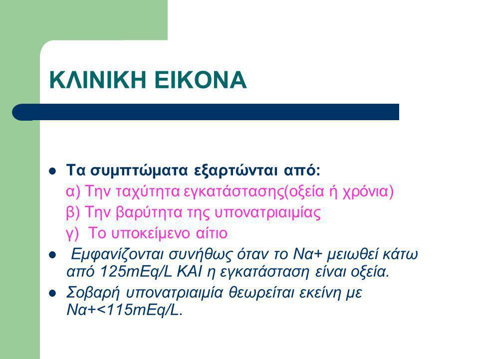 ΚΛΙΝΙΚΗ ΕΙΚΟΝΑ Τα συμπτώματα εξαρτώνται από: