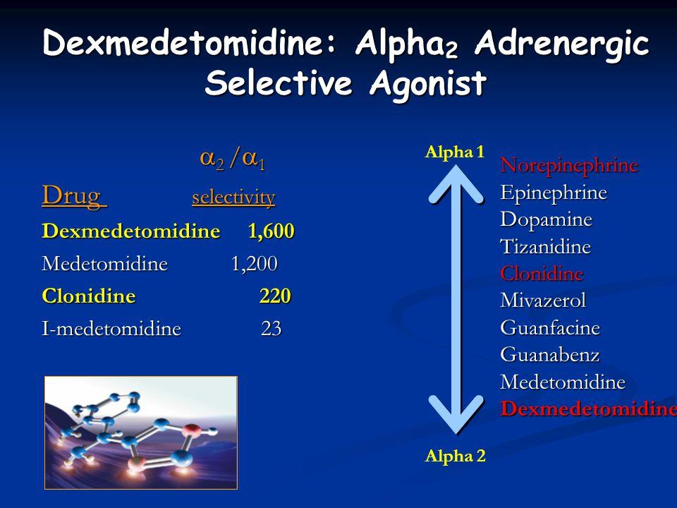 Dexmedetomidine: Alpha2 Adrenergic Selective Agonist