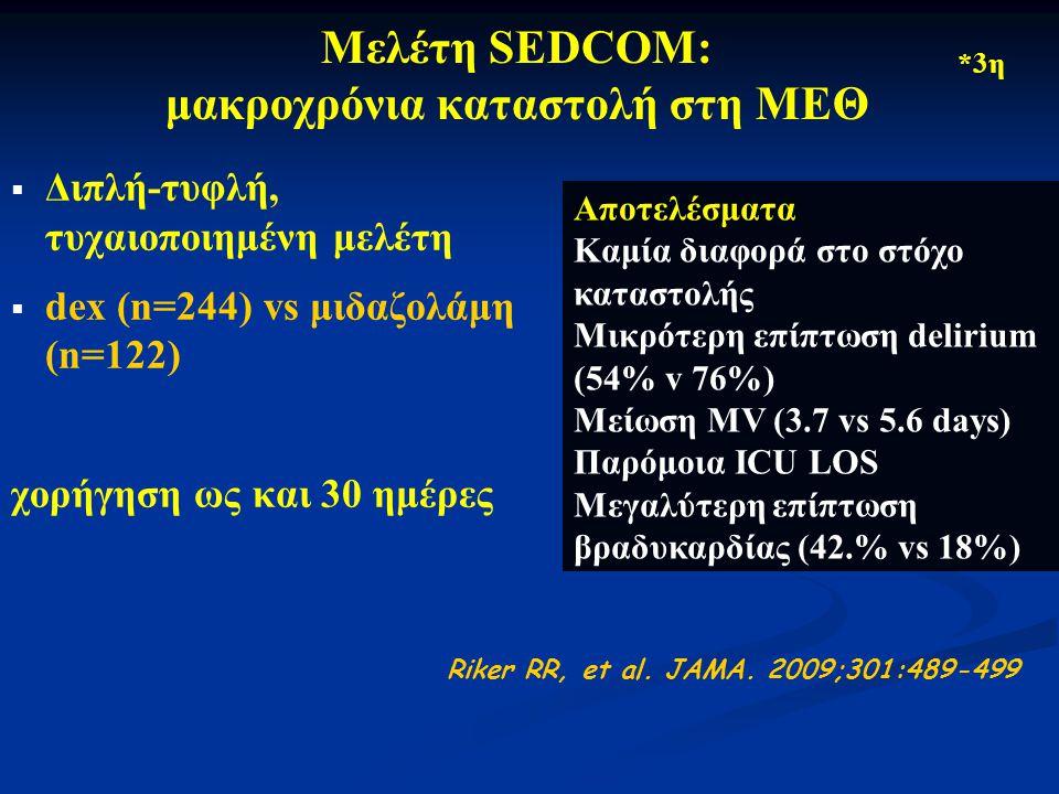 Μελέτη SEDCOM: μακροχρόνια καταστολή στη ΜΕΘ