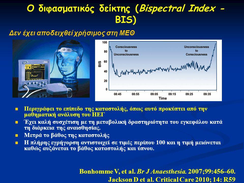 Ο διφασματικός δείκτης (Bispectral Index - BIS)