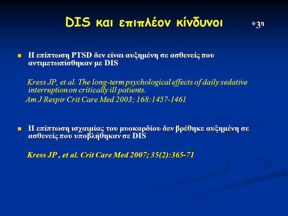 DIS και επιπλέον κίνδυνοι