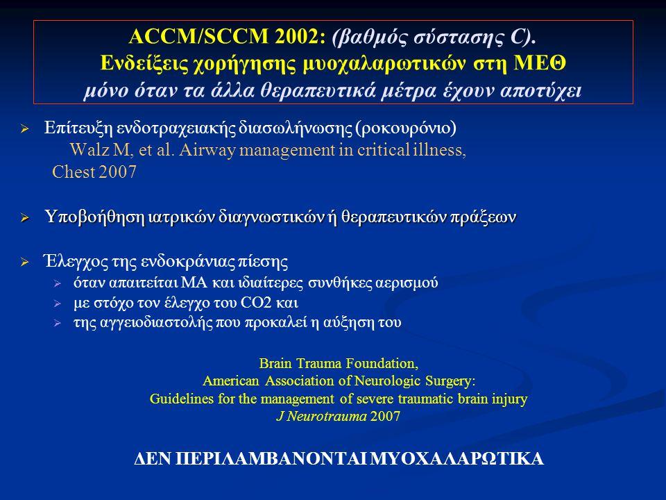 ACCM/SCCM 2002: (βαθμός σύστασης C)