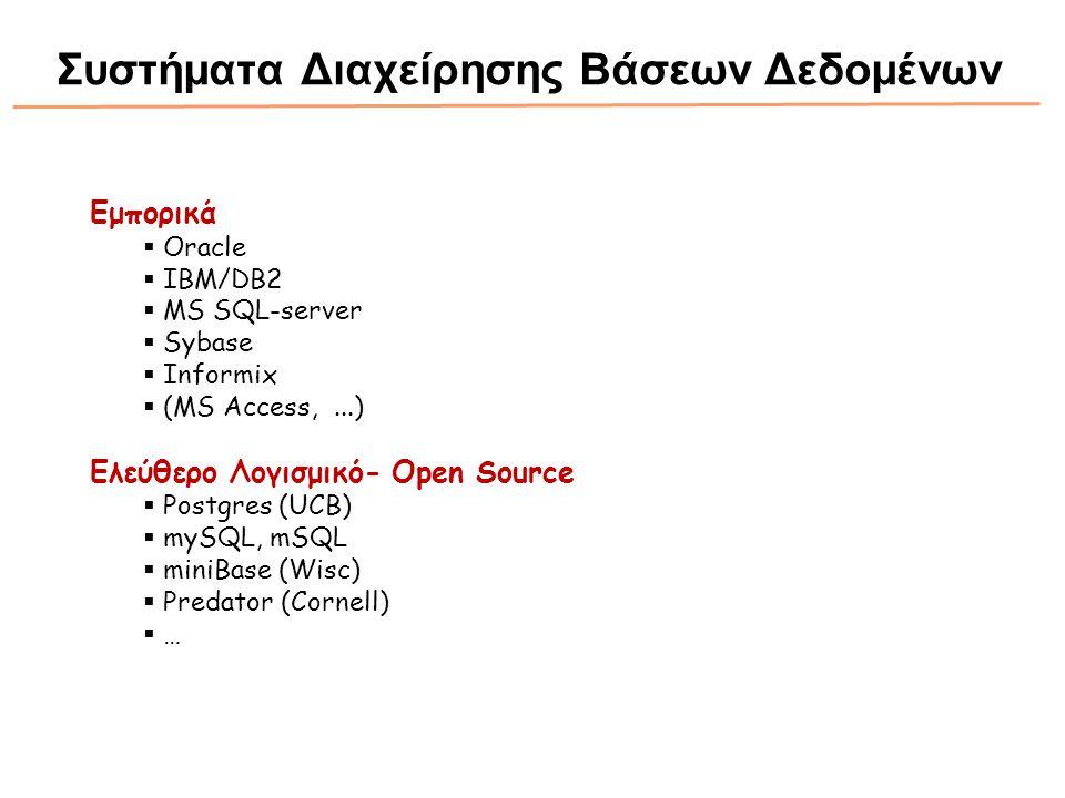 Συστήματα Διαχείρησης Βάσεων Δεδομένων