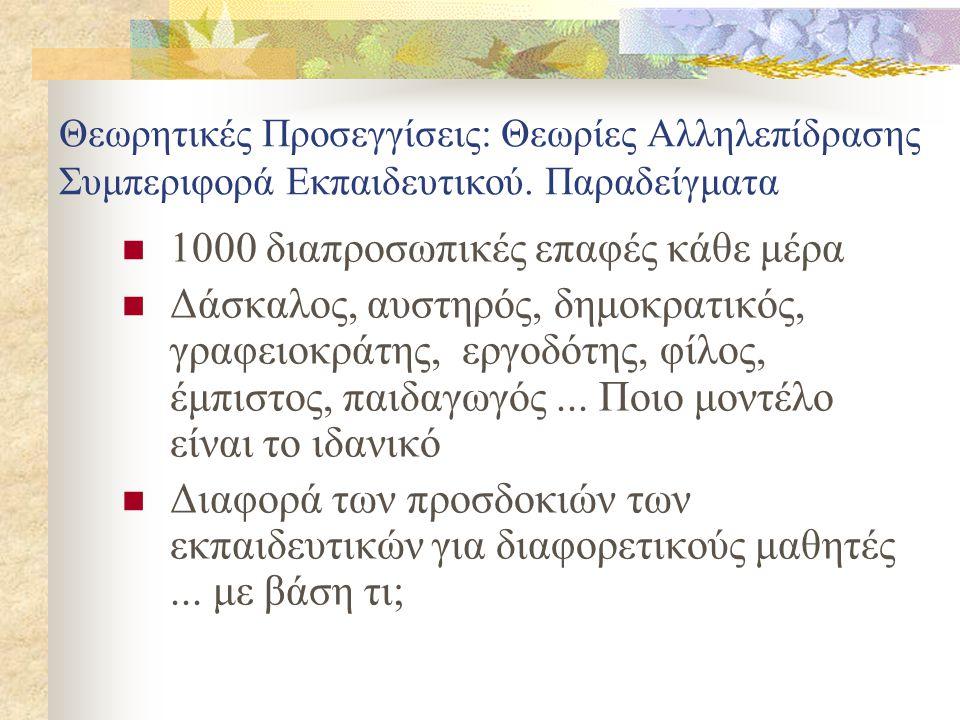 1000 διαπροσωπικές επαφές κάθε μέρα