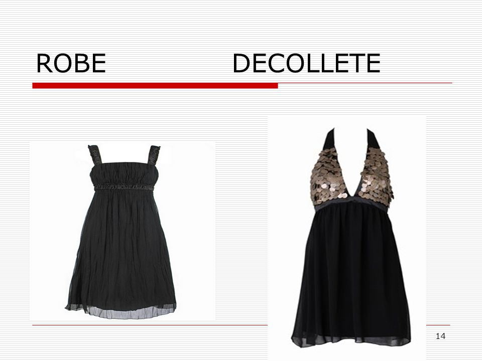 ROBE DECOLLETE