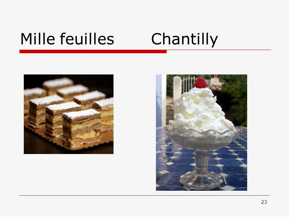 Mille feuilles Chantilly